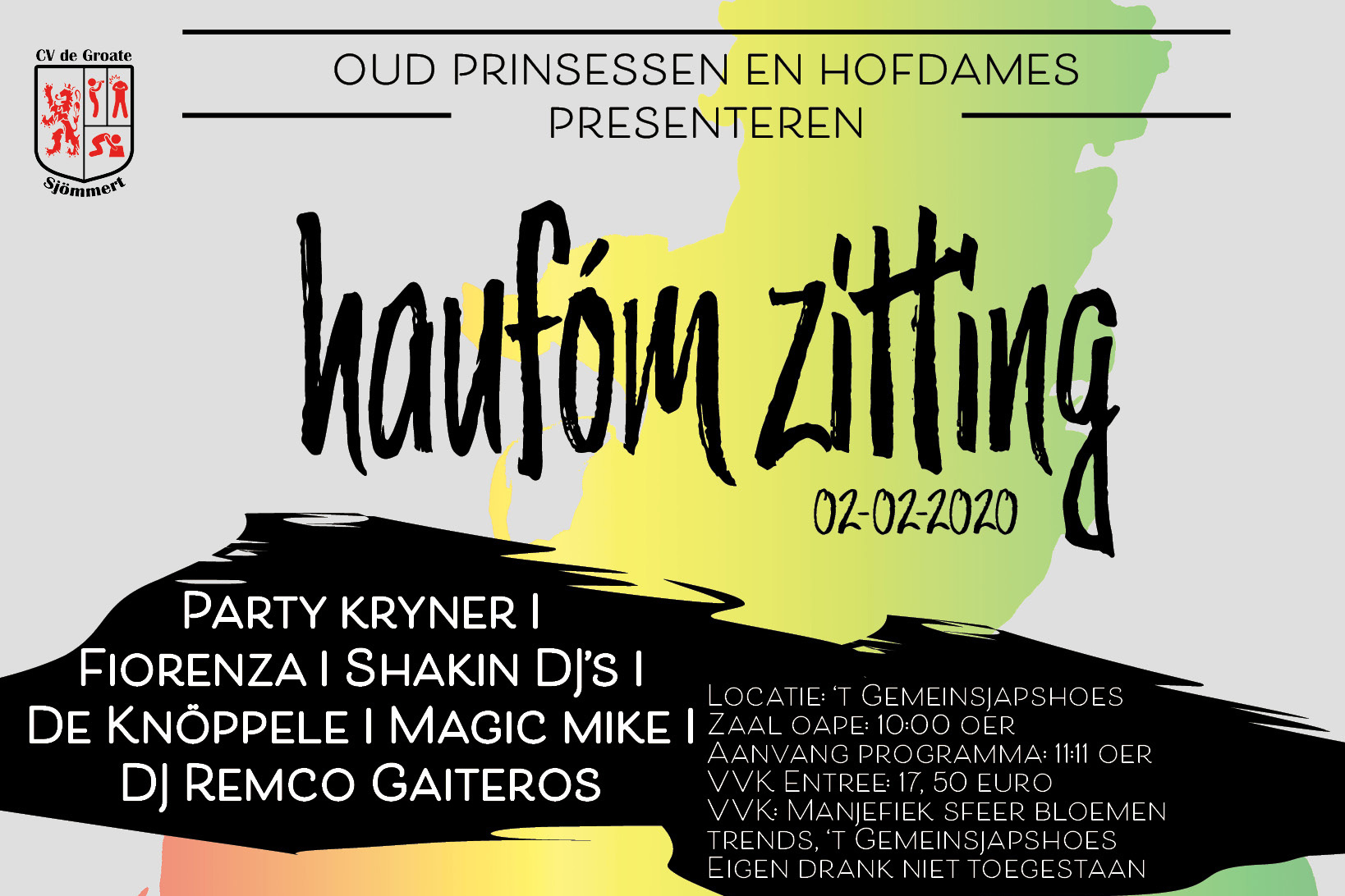 Evenement Haufóm zitting website